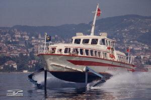 Le PT 20 Albatros présenté à Expo 64, ici sur le lac Léman.