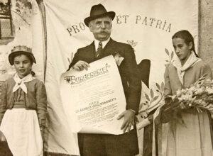 À l'occasion de son 80e anniversaire, Ernest Guglielminetti a reçu la citoyenneté d'honneur de Brigue.