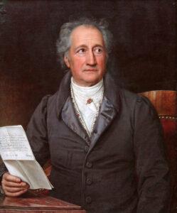 Johann Wolfgang von Goethe im 80. Lebensjahr, Gemälde von Karl Joseph Stieler, 1828.