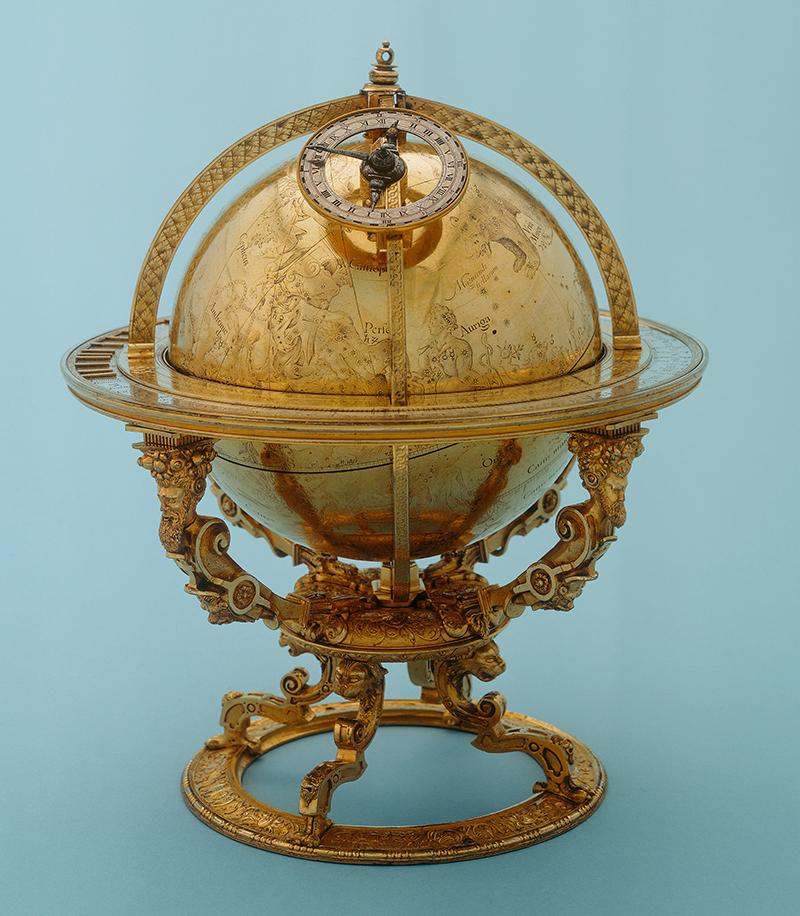 Globe céleste fabriqué par Jost Bürgi.