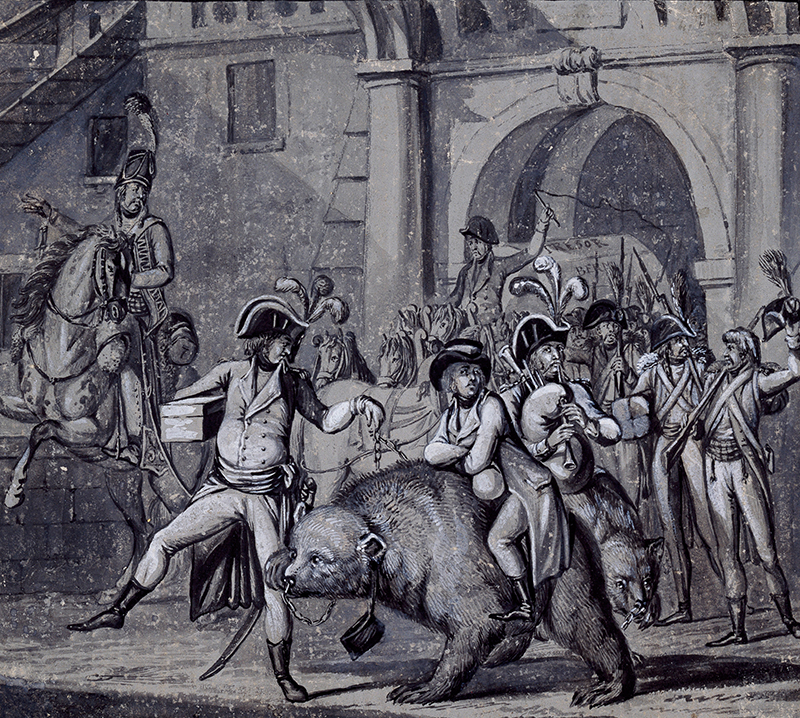 Bild der Entführung der Berner Bären durch die Franzosen.