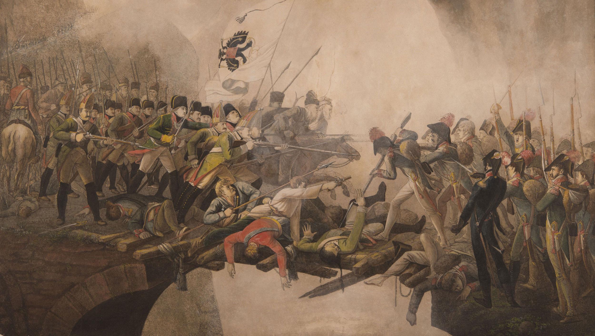Kampf auf der Teufelsbrücke. Um 1800, Anonym. Foto: Schweizerisches Nationalmuseum