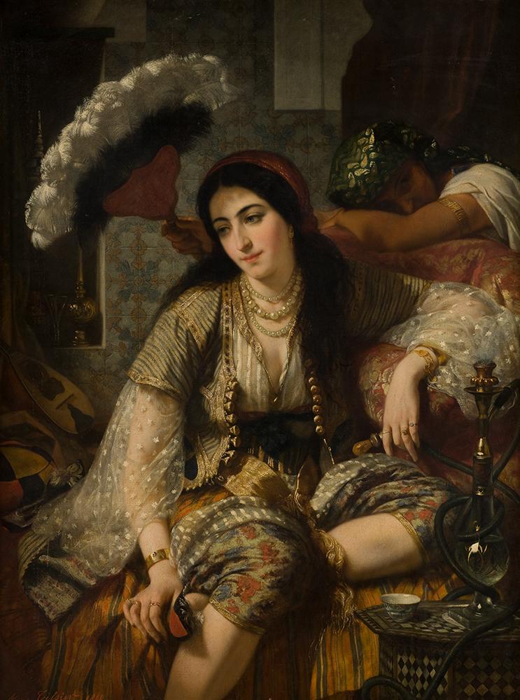 L'Odalisque, dit aussi Algérienne et son esclave, Ange Tissier (1814 – 1876), 1860