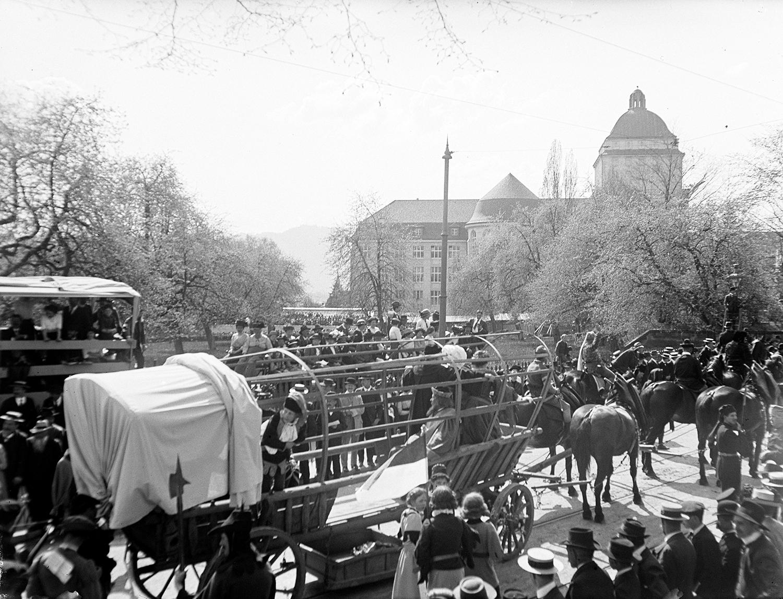 Anonym, Sechseläutenumzug, Rämistrasse Zürich 20.4.1914