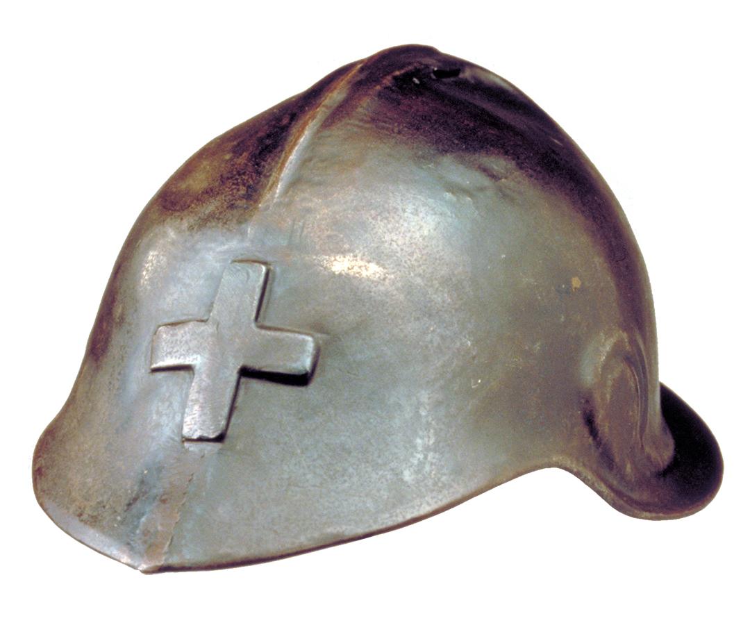 Prototyp des Stahlhelms Modell 17 von Charels L'Eplattenier, um 1917