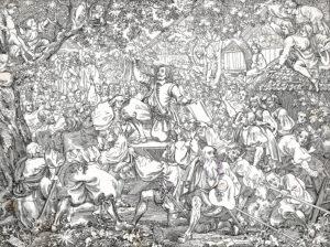 Der Bundesschwur an der Landsgemeinde von Huttwil 1653 in der Darstellung von Martin Disteli 1840.