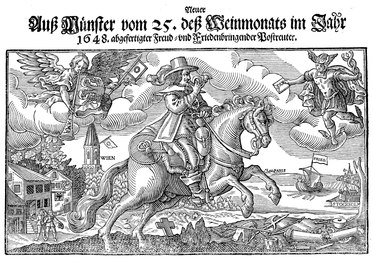 Flugblatt zum Ende des dreissigjährigen Krieges.