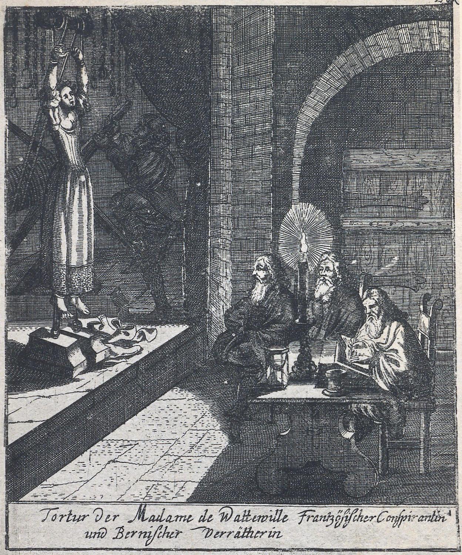 Die Folterung von Katharina von Wattenwyl im Berner Käfigturm.
