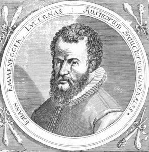 Hans Emmenegger (1604–1653) von Schüpfheim LU, Landespannermeister im Entlebuch, enthauptet.