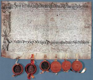 Der Huttwiler Bundesbrief der Bauern von 1653, Solothurner Exemplar.