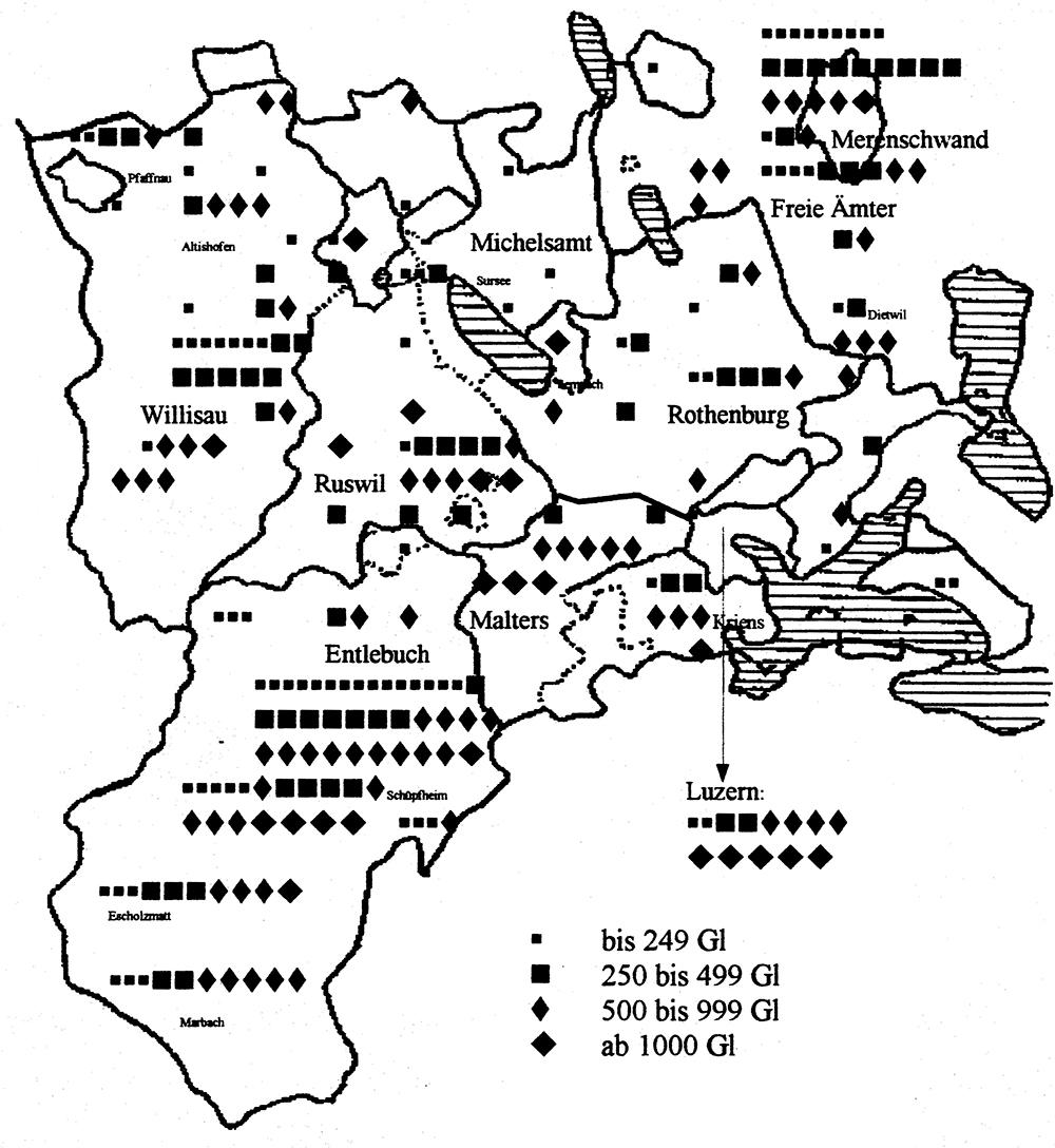 Gülten des Luzerner Landvogts Ludwig Meyer (1587–1663)