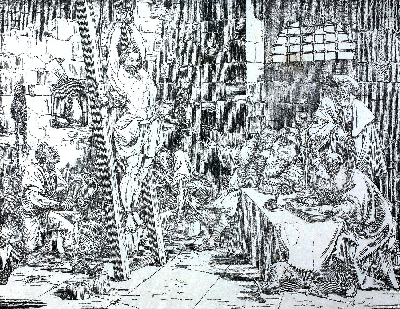 «Schibi auf der Folter», Disteli-Kalender 1839