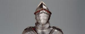 Sturmhaube, Ende 16. Jahrhundert, vermutlich getragen von Hans Conrad von Werdmüller, General des Ostschweizer Tagsatzungsheers im Bauernkrieg.
