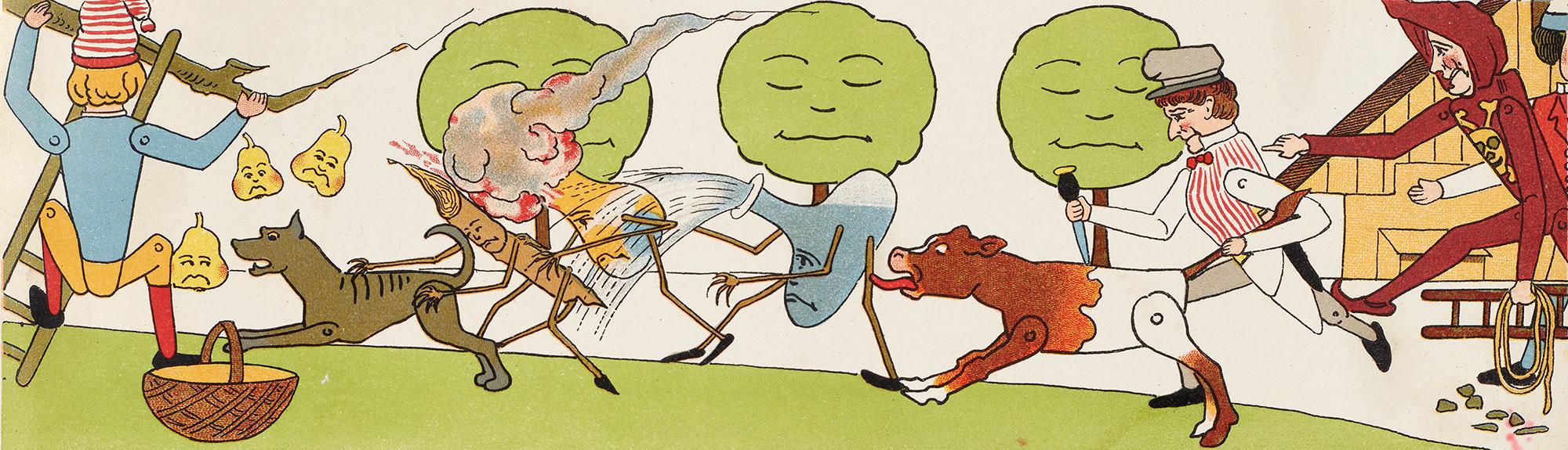 Dans la première édition du Joggeli de Lisa Wenger, l'histoire mettait en scène un bourreau, qui a disparu dans les versions suivantes.