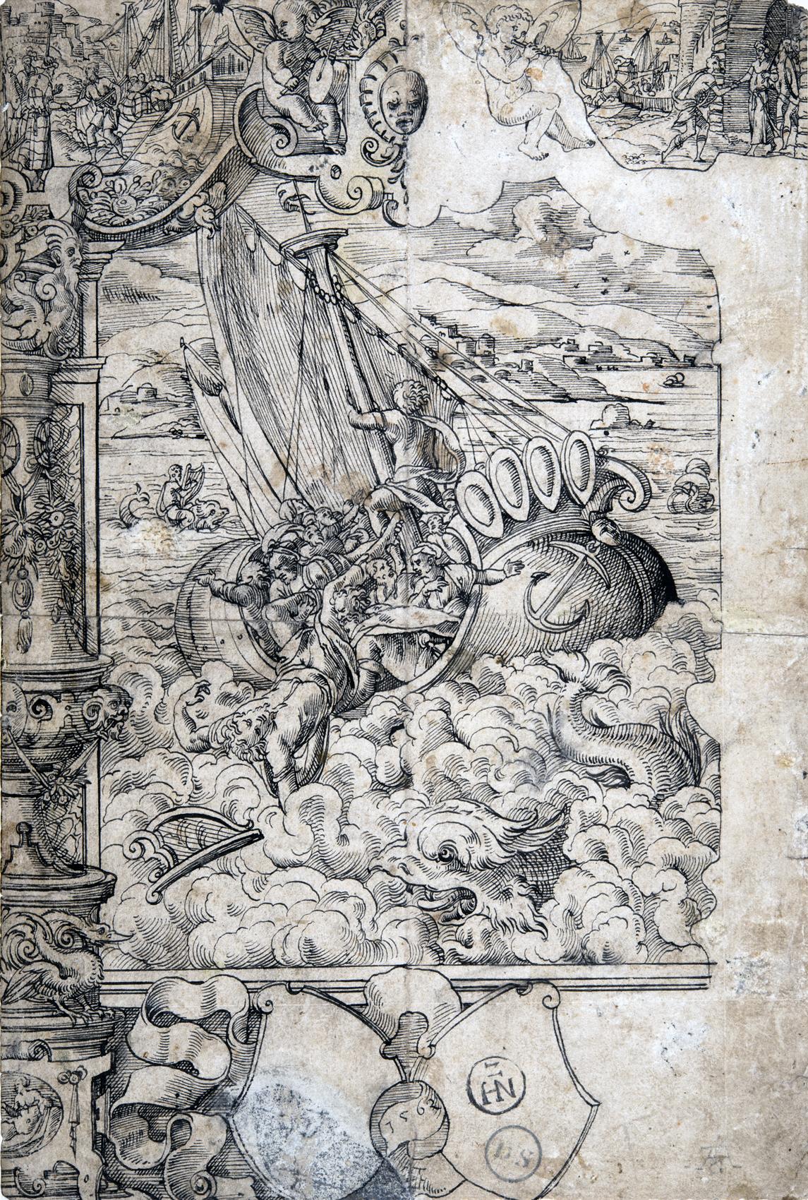 Arion wird von der Besatzung eines Segelschiffs ins Meer geworfen