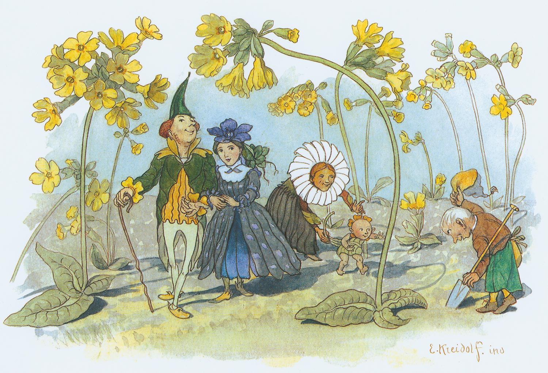 Motiv aus Ernst Kreidolf, Blumen-Märchen