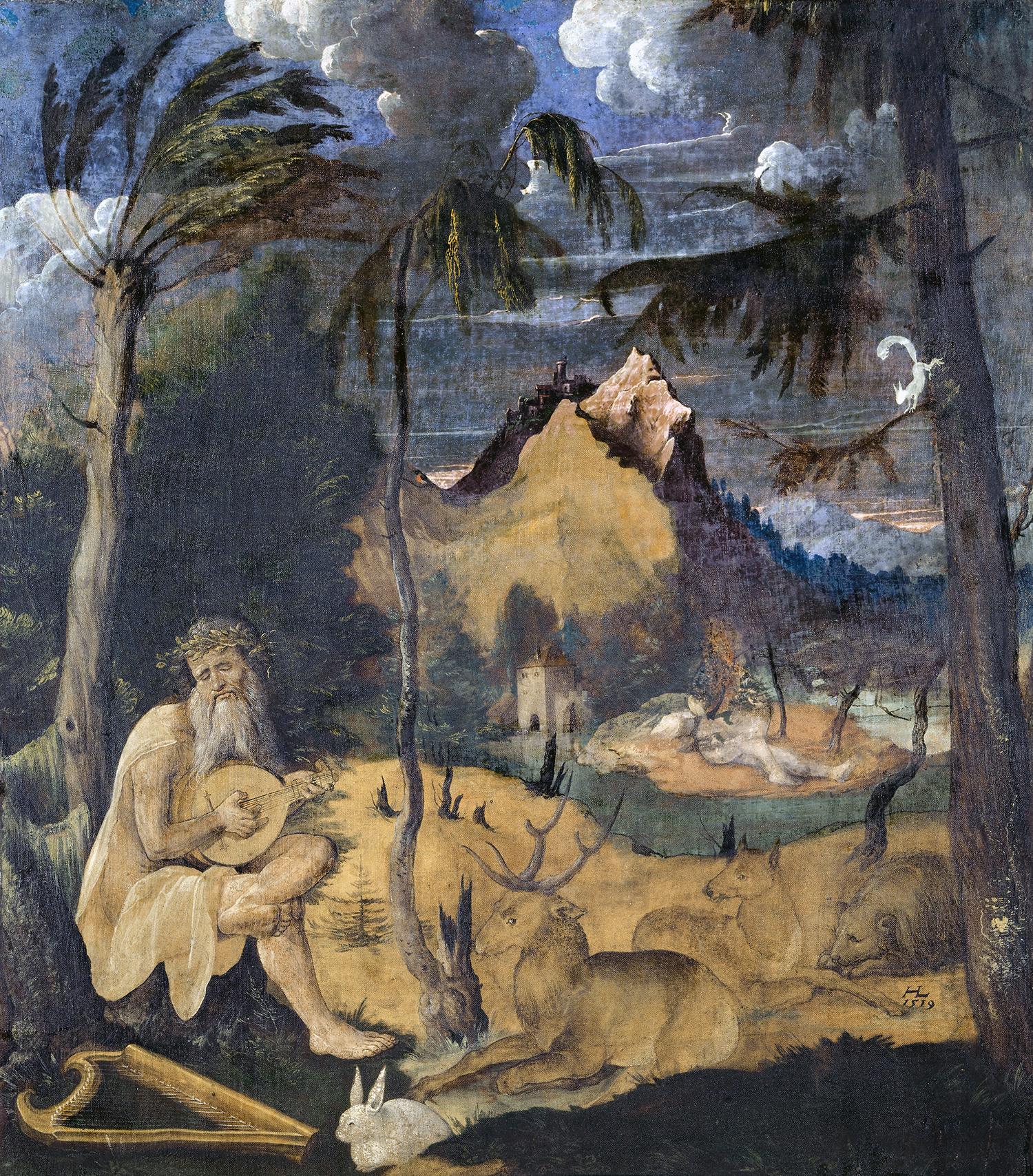 Orpheus und die Tiere, Hans Leu d. J., 1519, Kunstmuseum Basel