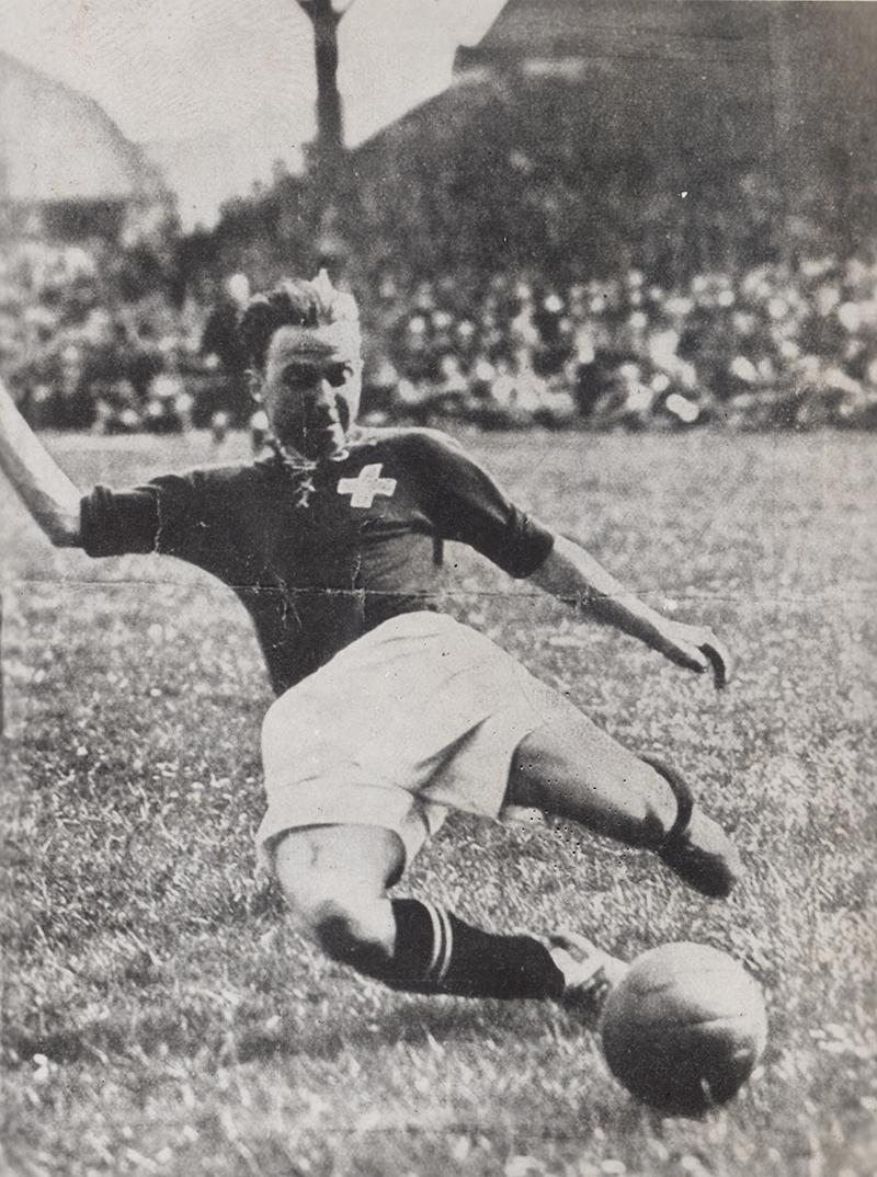 Schweizer Fussballer Willy Jäggi.