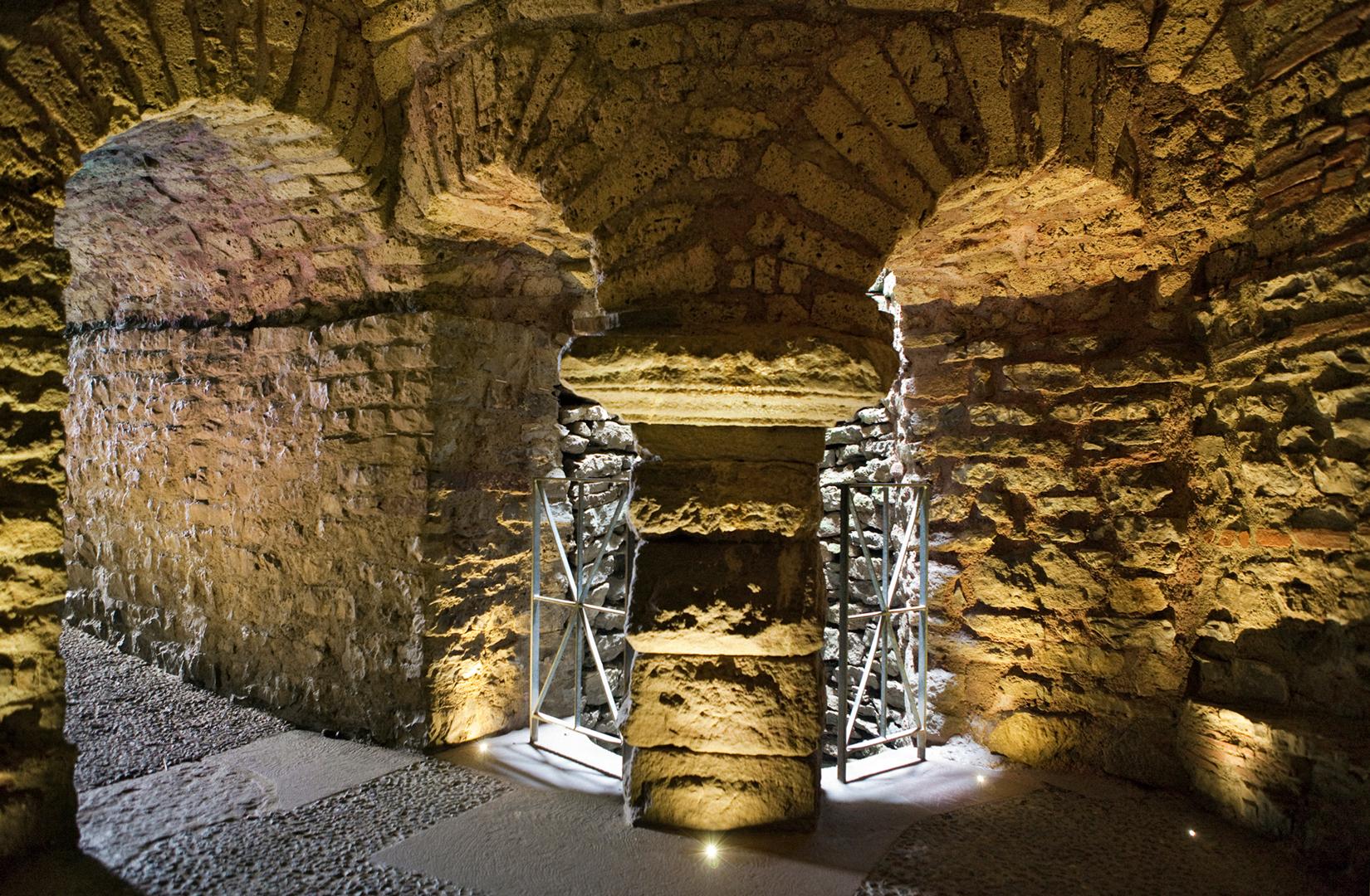 Das unterirdische Brunnenhaus in Augusta Raurica.