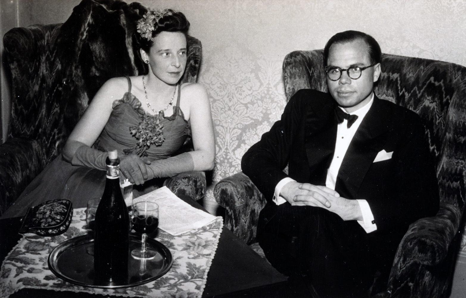 Walter Herdeg and his wife Kathleen in Grindelwald, 1940.