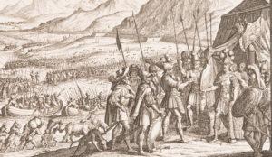 Bataille opposant les Romains et les Helvètes.