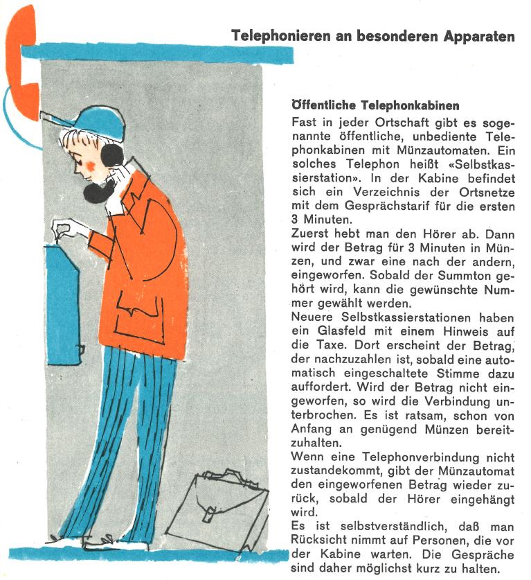 Schul-Broschüre «Richtig telephonieren