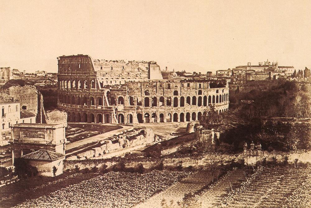 Das Kolosseum von Rom.