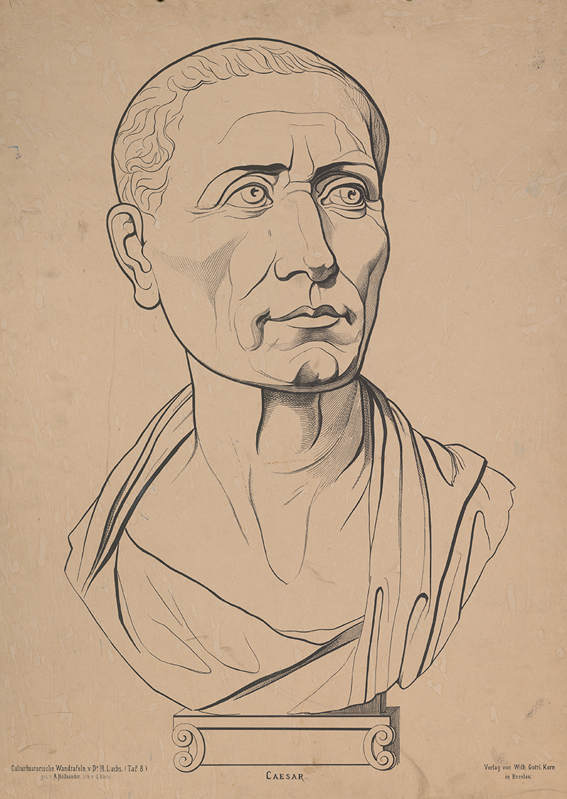 Planche pédagogique de Jules César.