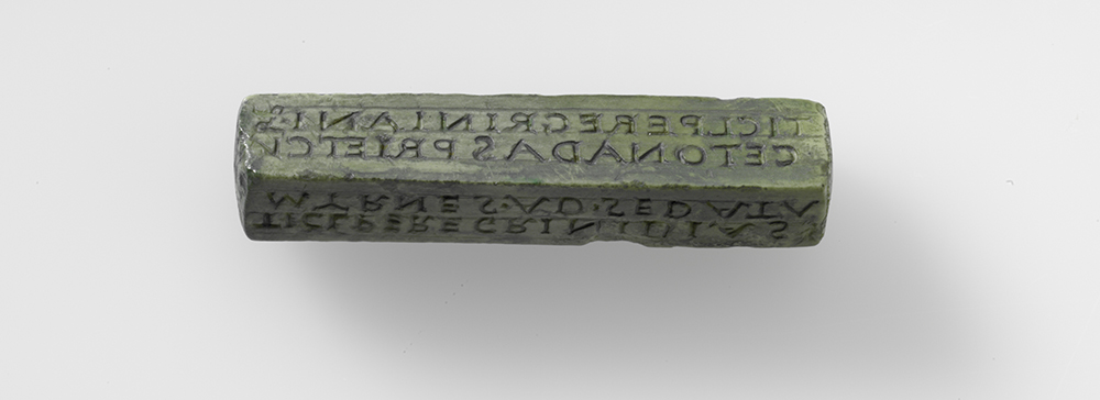 Römischer Stempel, gefunden in Bern.