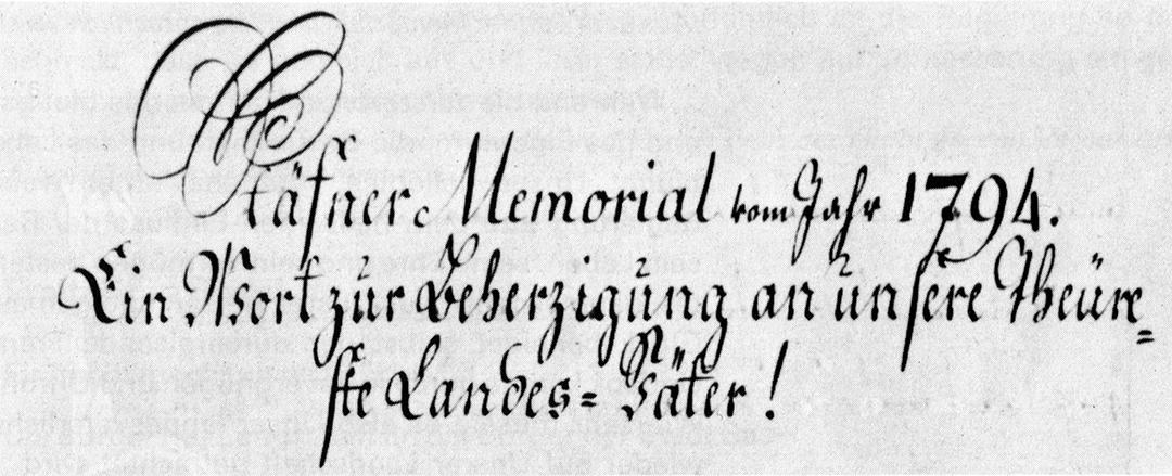Stäfner Memorial von 1794