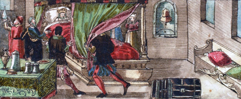 Rudolf of Habsburg on his deathbed.