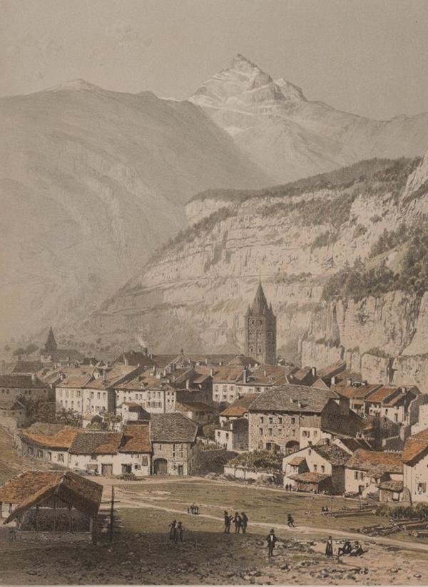 Druckgrafik von St. Maurice.