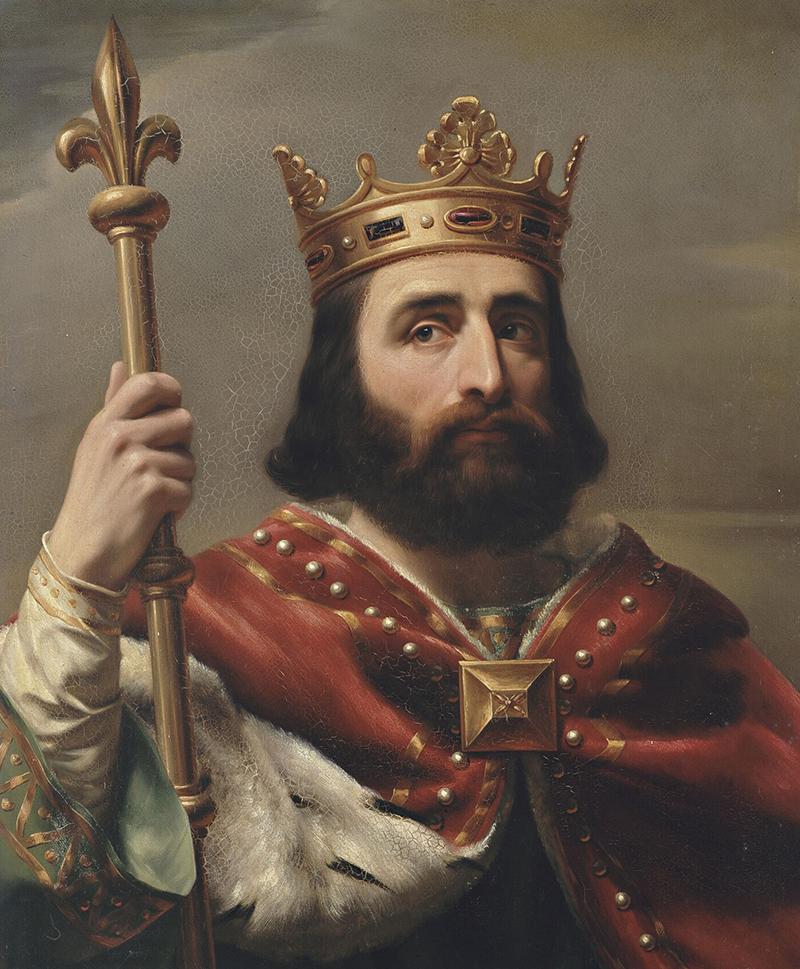 Portrait du roi Pépin le Bref.