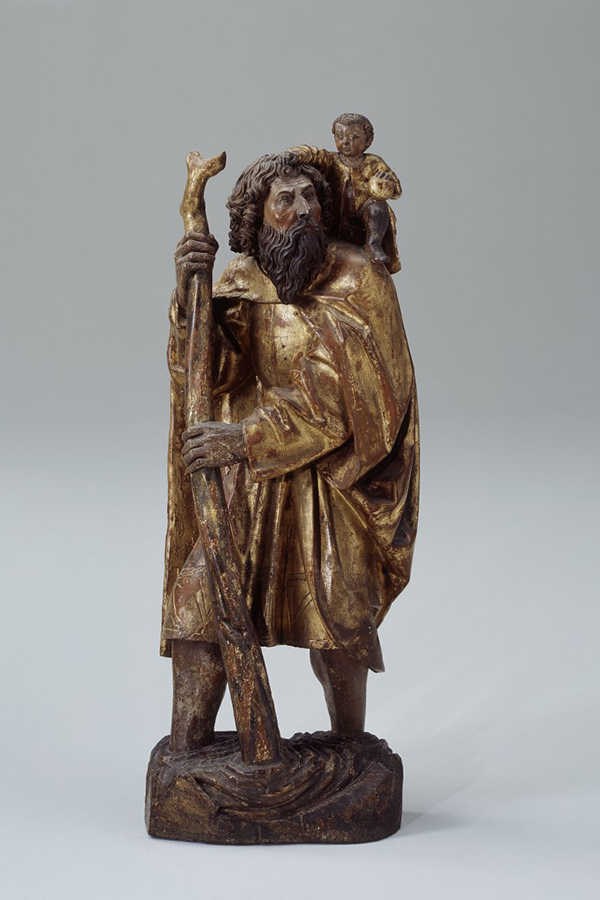 Figur des heiligen Christophorus.