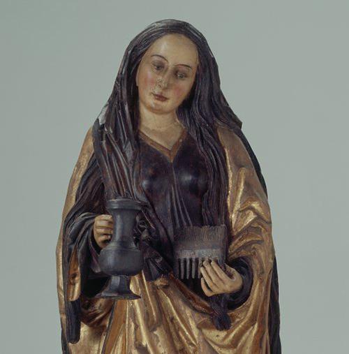 Figur der heiligen Verena.