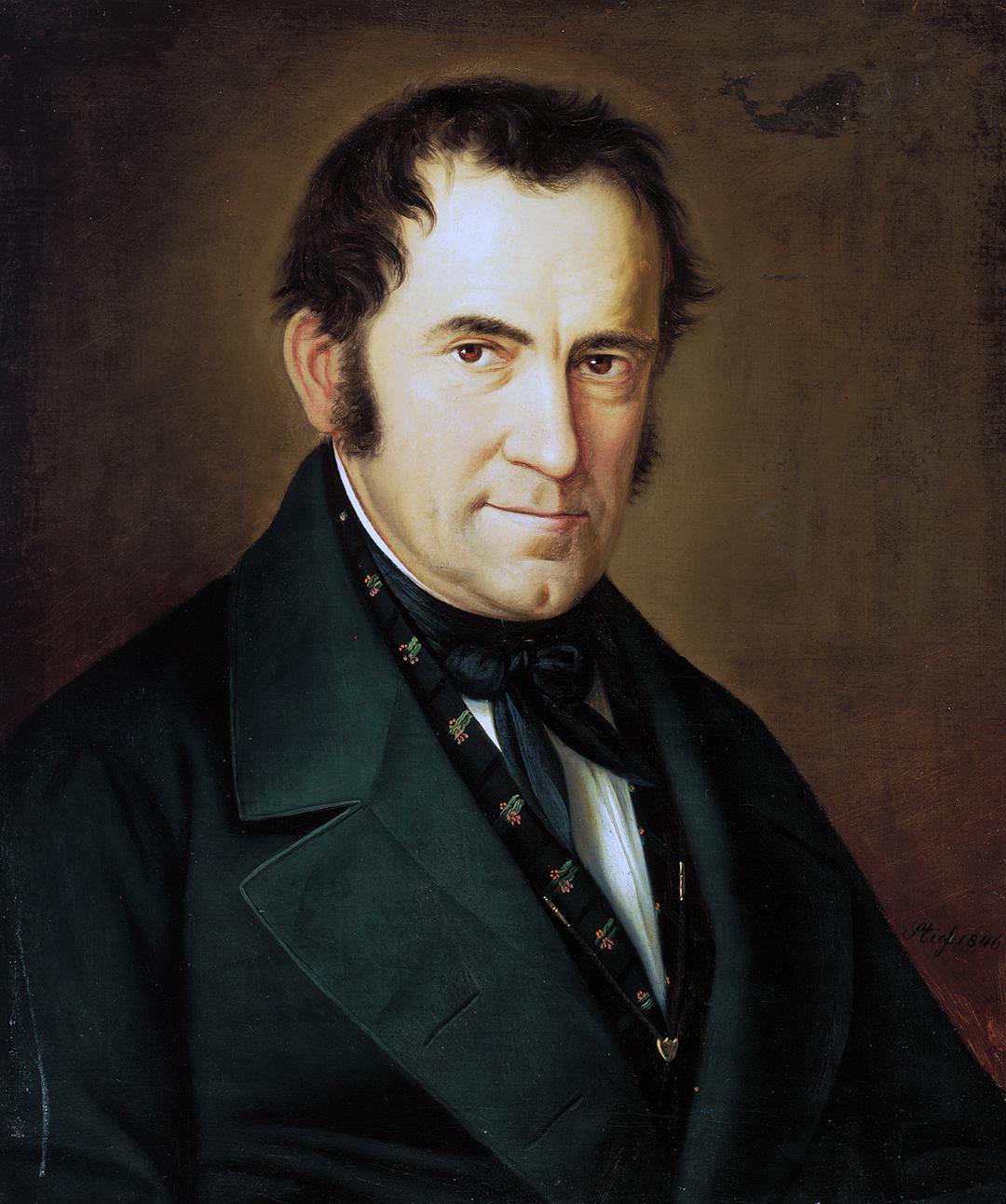 Franz Xaver Gruber, painted by Sebastian Stief (1846).