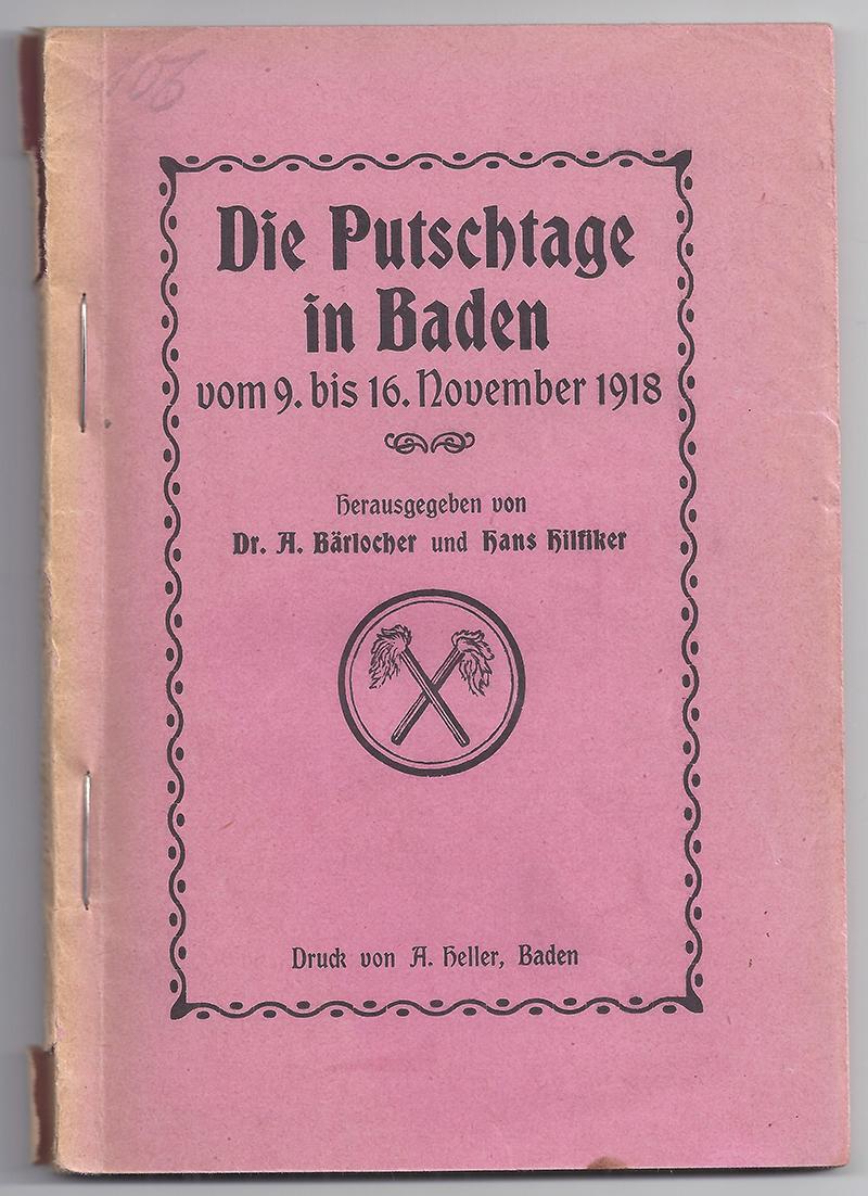 Brochure de cent pages sur la grève générale de 1918.