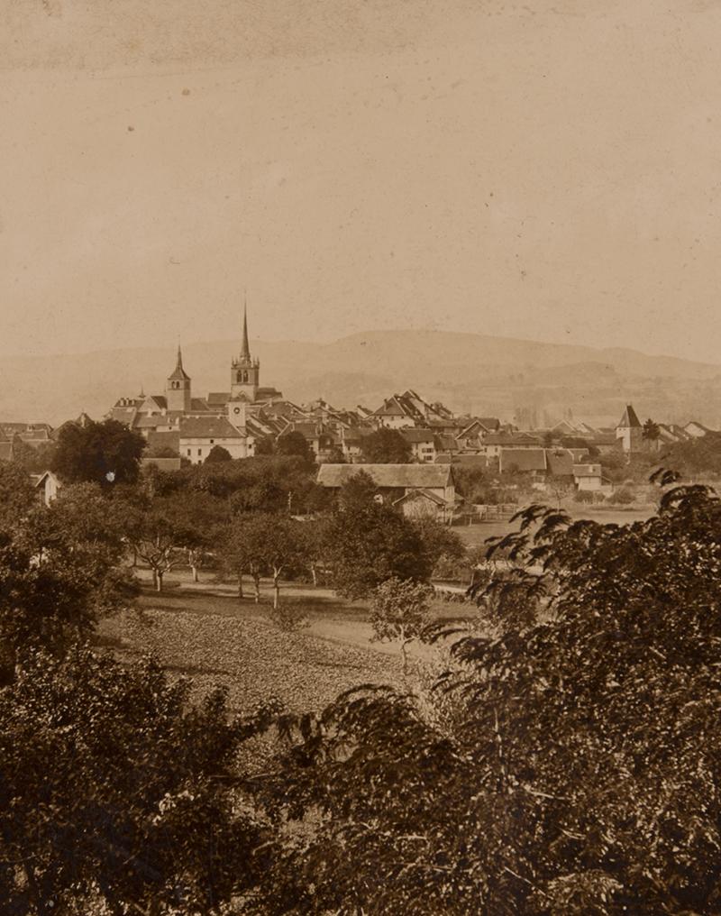 Ancienne photographie de Payerne.