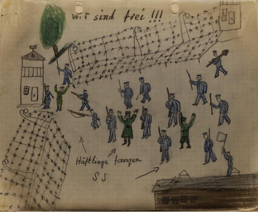"""We are free!!!"", Kalman Landau, 1945. Archives of Contemporary History ETH Zurich"
