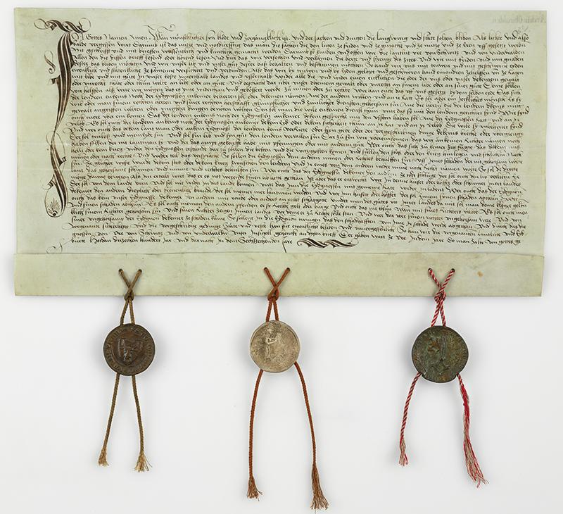 Fac-similé du pacte dit de Brunnen de 1315.