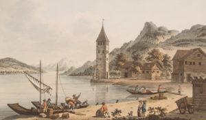 Der Schnitzturm in Stansstad (la Schnitzturm de Stansstad), gravure de 1780.