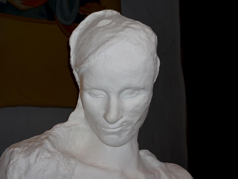 Totenmaske der Hildegard von Egisheim (um 1028–1094), wie heute angenommen wird.