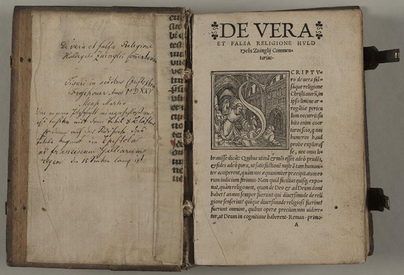 De vera et falsa religione de Zwingli, imprimée par Christoffel Froschauer et publiée en 1525.