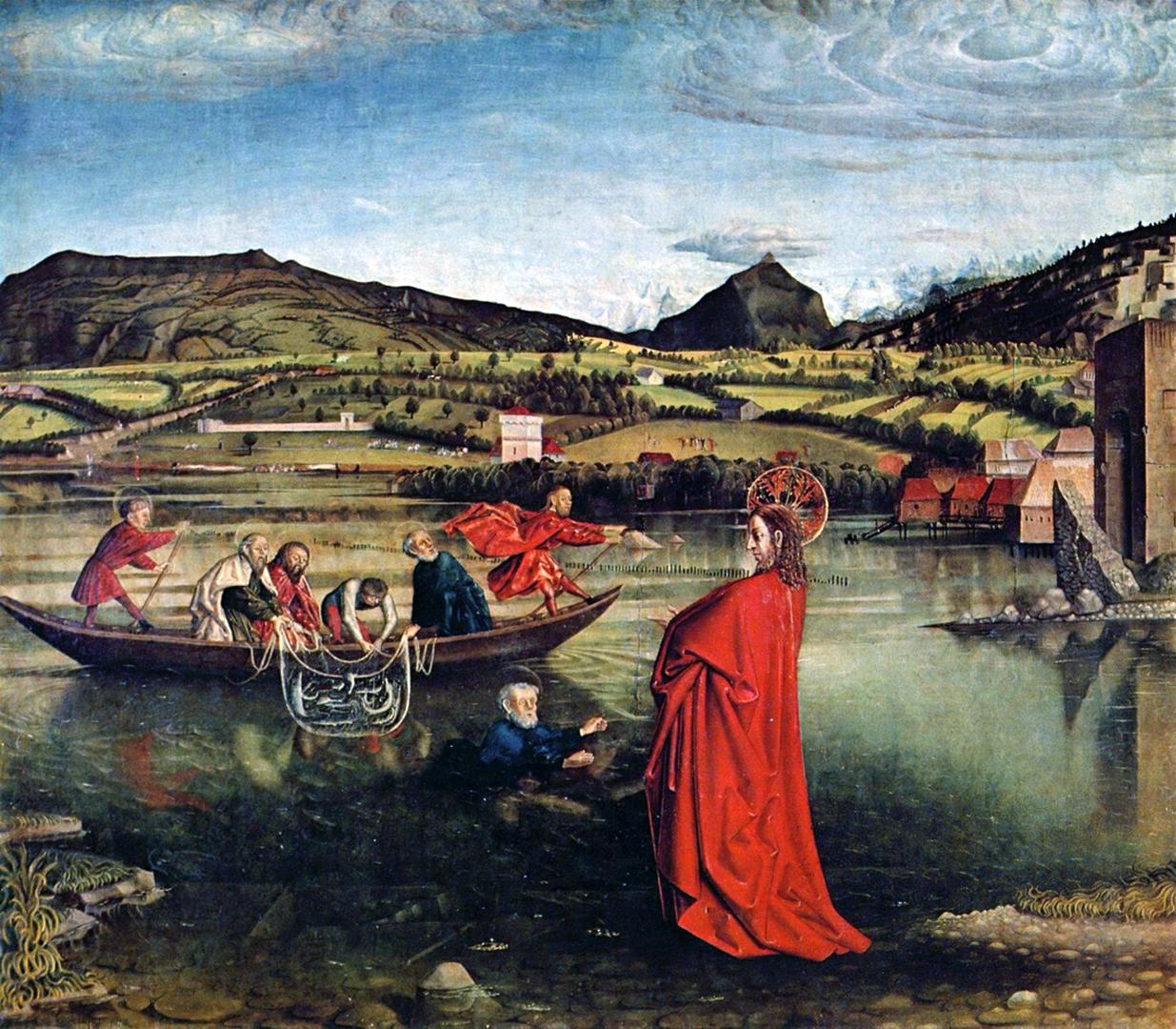 Le retable de Konrad Witz datant de 1444 donne une idée de ce à quoi ressemblait Genève au Moyen-Âge. Le tableau, qui transpose une scène biblique sur le Léman, est considéré comme le premier portrait topographique réaliste de la peinture occidentale.