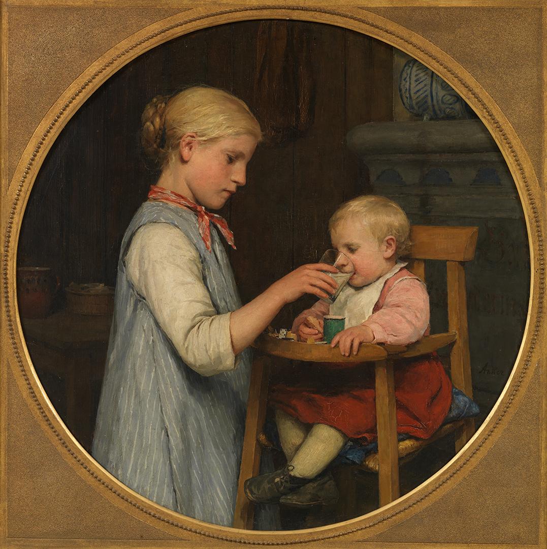 Albert Anker, Das kleine Mütterchen, um 1888