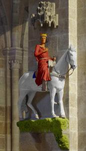 Der Bamberger Reiter in Farbe