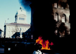 Demonstration in Bern against the government's keeping of files, March 1990.