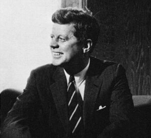 John F. Kennedy at a meeting in Vienna, 1961.