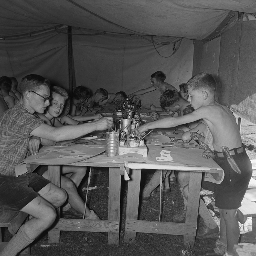 Fifth National Scout Jamboree, in Saignelégier, 1956.