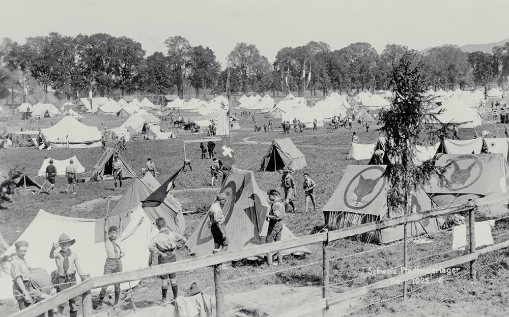 Boy Scout camp in Bern, 1925.
